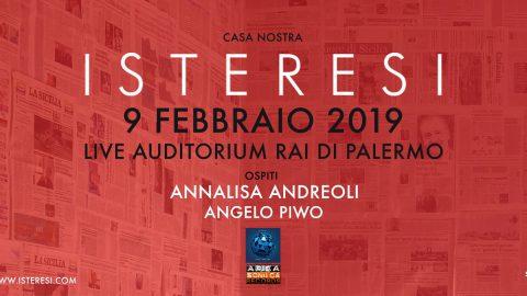 Questo sabato 9 febbraio gli Isteresi tornano sul palco con un grande live di presentazione presso l'Auditorium Rai di Palermo.