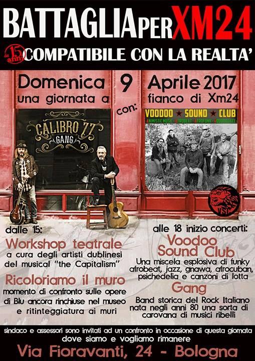COMPATIBILE CON LA REALTA': WORKSHOP E MUSICA PER SALVARE L'XM24.